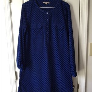 Gap Blue with Black Polkadot Medium Dress